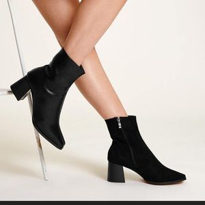 Shoes - Bad Babe Half Faux Leather/Faux Suede Ankle Boots